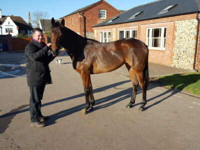 At Hugo Palmer's Newmarket yard with Arqana purchased Makfil filly