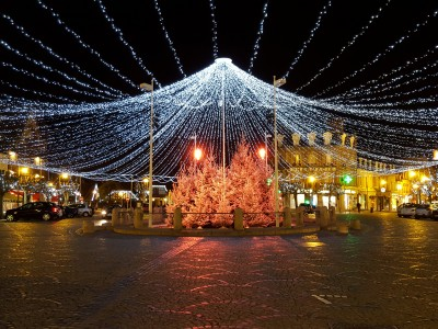 Christmas Lights in Place De Morny, Deauville