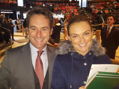 SW with Olivier Delloye now Chairman of France Galop