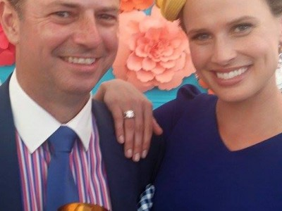 With the stunning Francesca Cumani