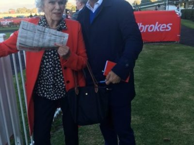 With Shirlie Levy at Sandown