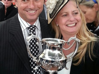 Celebrating Solzie's Toorak win with Narelle Stocker