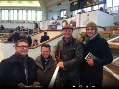 Mark Rowsthorn, DG, Gerard Jones & Jamie Alchin at Tatts